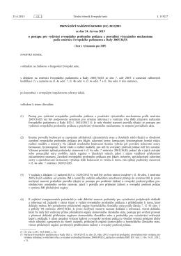 PROVÁDĚCÍ NAŘÍZENÍ KOMISE (EU) 2015/ 983