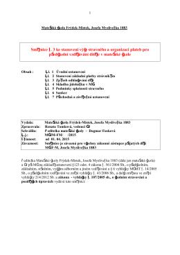 Směrnice č. 3 ke stanovení výše stravného a