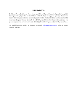 PGV16 a PGV20 - ATMOS Chrást