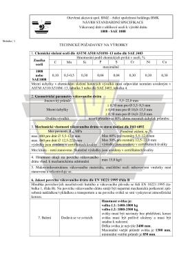 Návrh specifikace - SAE1008
