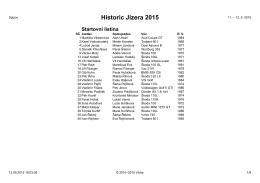 Historic Jizera 2015