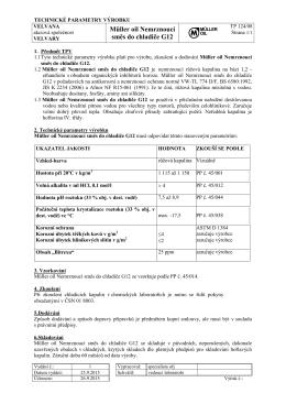 Technický list - Olej müller oil