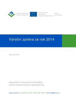 Výroční zpráva OPZP za rok 2014 včetně příloh