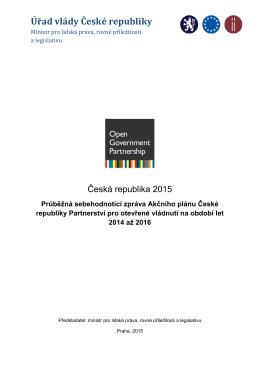 OGP Průběžná sebehodnotící zpráva ČR 2014-2016