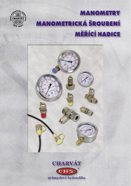manometry manometrická šroubení měřící hadice