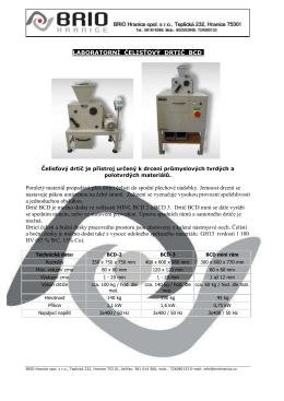 Drtic-BCD - BRIO Hranice sro