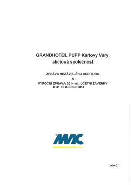 Auditorská a výroční zpráva 2014 včetně účetní