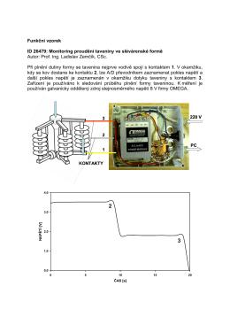 Funkční vzorek ID 26479: Monitoring proudění taveniny ve