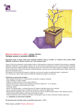 Design interiéru – Sezení