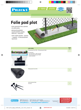 Folie pod plot