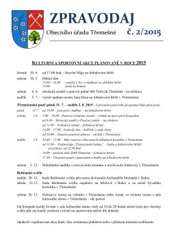 Zpravodaj č. 2/2015