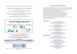 Seminář Adolfa Patery 2015