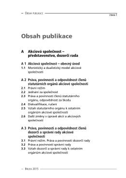 Obsah publikace - Nakladatelství Forum s.r.o.