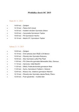 Přehlídka sborů OC 2015