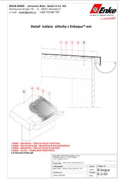 Detail izolace střechy s Enkopur®-em