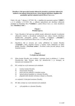 Zkouškový řád upravující konání odborných zkoušek k prokázání