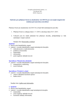 Směrnice - Evropský polytechnický institut, sro