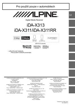 iDA-X313 iDA-X311/iDA-X311RR - Web