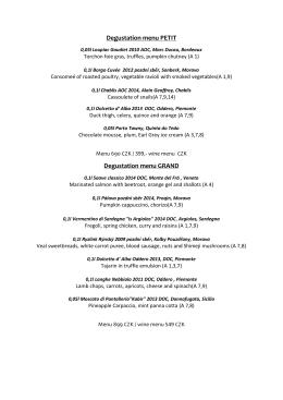 Degustation menu PETIT Degustation menu GRAND