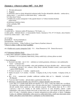Schůze SRŠ 14.4.2015