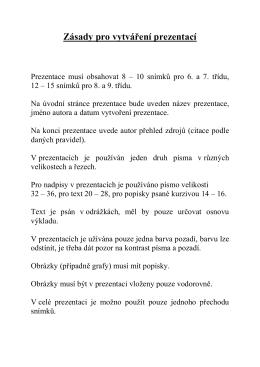 Ročníková práce - ZŠ Ostrava