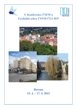 5. Konference ČSFM a Fyzikální sekce ČSNM ČLS JEP Beroun 15