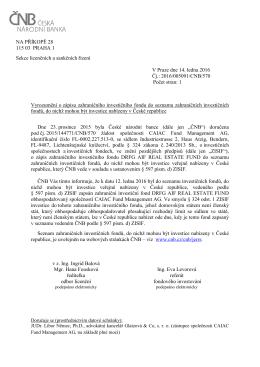 NA PŘÍKOPĚ 28 115 03 PRAHA 1 Sekce licenčních a