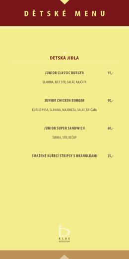 Dětské menu