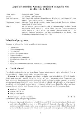 Zápis GPKR 16. 9. 2015