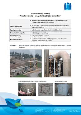 Případová studie – energetická jednotka cementárny