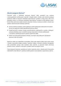 Záruční program BioCam®
