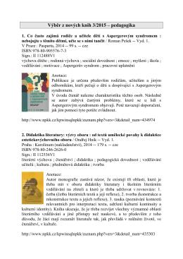 Výběr z nových knih 4/2010 – ostatní společenskovědní obory