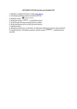 iGET RIDER F170 FHD instrukce pro aktualizaci FW 1. Stáhněte si