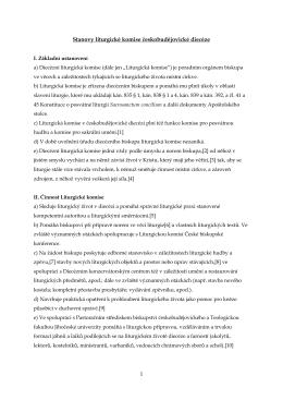 Stanovy liturgické komise českobudějovické diecéze