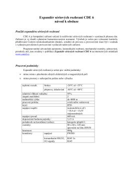 Expandér sériových rozhraní CDE 6 návod k obsluze