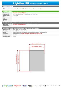 Lightbox BB formát plochy 0,8 x 1,2 m