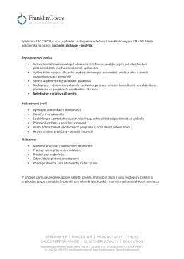 Informace k pozici v pdf