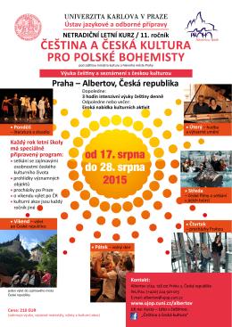 češtině - Univerzita Karlova