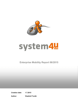 Enterprise Mobility Report 06/2015