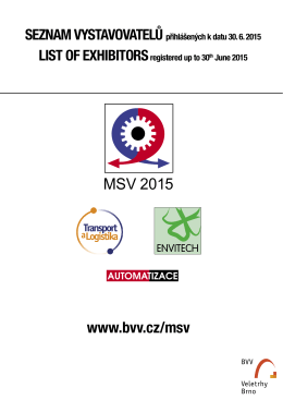 MSV 2015 - Flanders Investment & Trade