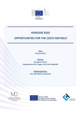 horizon 2020 opportunities for the czech republic