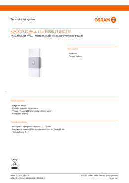 NOXLITE LED WALL 12 W DOUBLE SENSOR SI