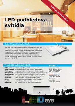 katalogový list- LED podhledová svítidla