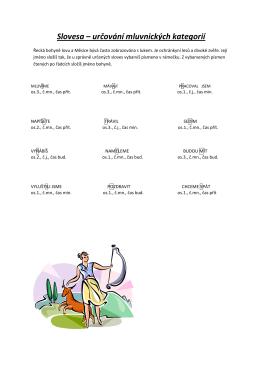 Slovesa – určování mluvnických kategorií