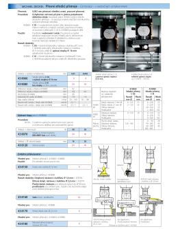 Přesné středicí přístroje – Centricator – s - extra
