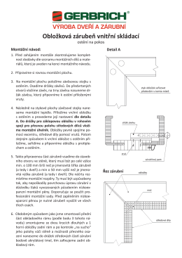 Montáž obložkových zárubní - ostění na pokos
