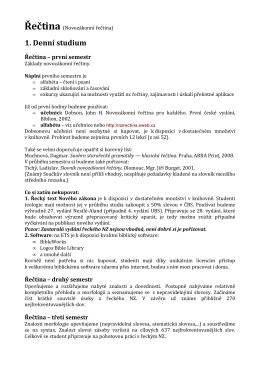 1. Denní studium - Novozákonní řečtina