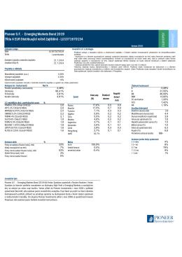 Pioneer S.F. – Emerging Markets Bond 2019 Třída A EUR