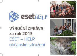 za rok 2013 ESET – HELP, občanské sdružení