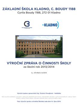 Výroční zpráva o činnosti školy za školní rok 2013/2014